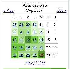 Google Web Trends Calendar